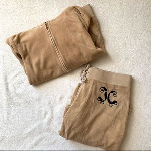 JUICY COUTURE VELOUR TRACKSUIT (LIGHT BROWN/TAN)